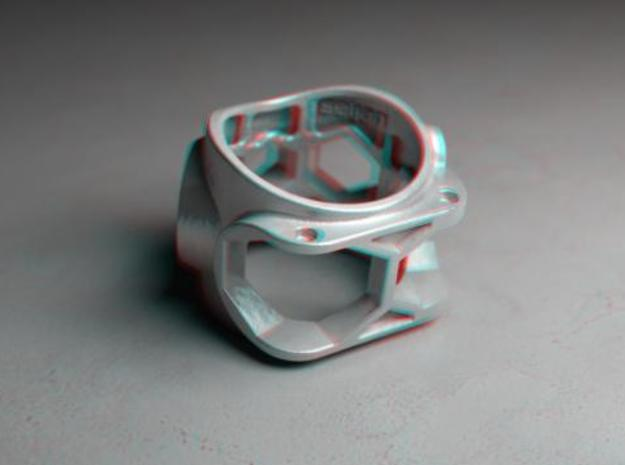 1086 ToolRing - size 7 (17,35 mm) 3d printed 1086 ToolRing - Anaglyph (back)