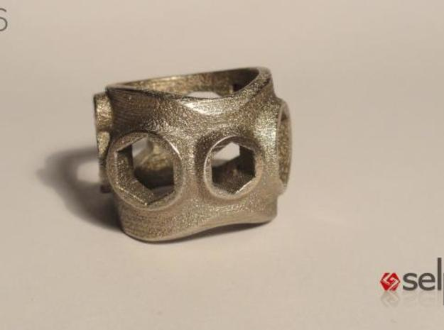 1086 ToolRing - size 7 (17,35 mm) 3d printed 1086 ToolRing - Primal Finish A