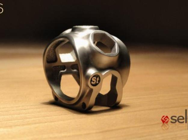 1086 ToolRing - size 7 (17,35 mm) 3d printed 1086 ToolRing - Brushed Finish B