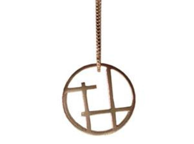 Serra pendant small 3d printed Now available in Sterling silver