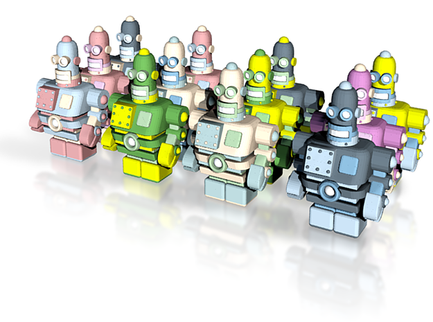 USB Robot's Army 3d printed There's 12 of us