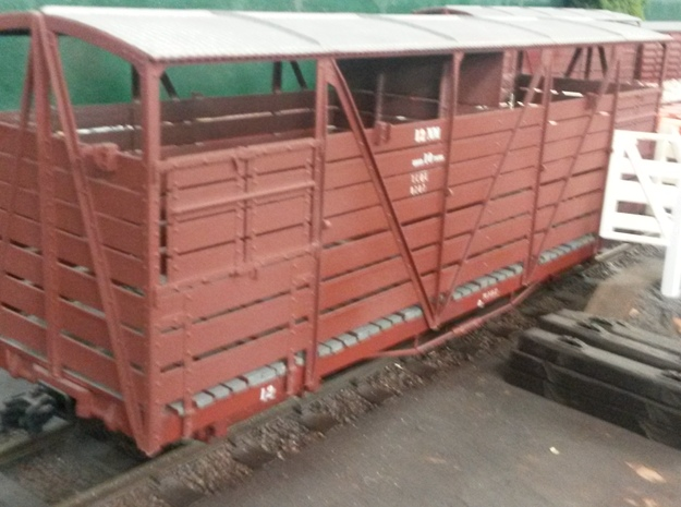 Victorian Railways 16mm scale NM cattle wagon body 3d printed MOO!