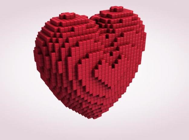 Pixel Love 3d printed Description