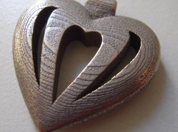 Heart Pendant 3d printed Before Polishing