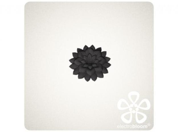 Betty flower charm. 3d printed BLACK BETTY FLOWER CHARM