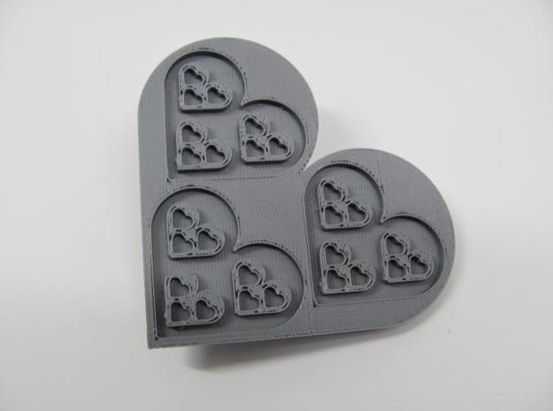 Fractal Heart Barrette 3d printed Description