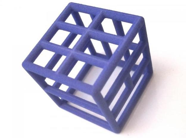 D6 Framed Tiles Dice 3d printed Indigo Strong & Flexible