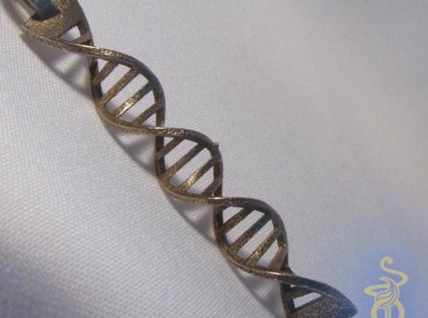 DNA Pendant in 3D printed stainless steel 3d printed 1