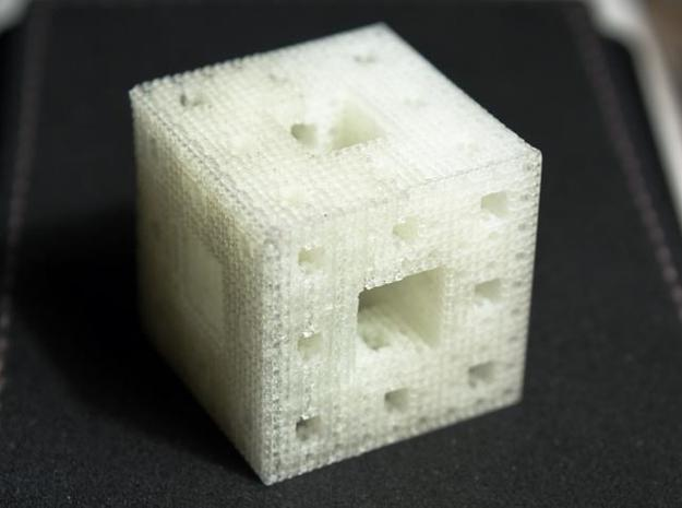 Menger sponge (level-4) 3d printed Not full cleaned and deteriorated after brushing.
