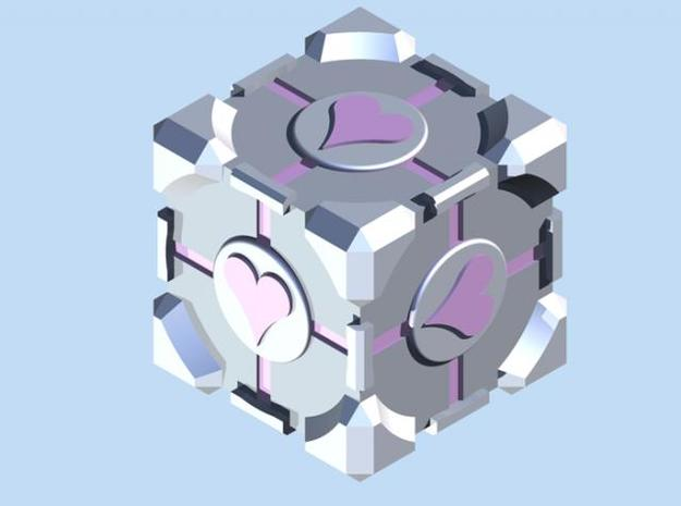 Companion Cube 3d printed Render