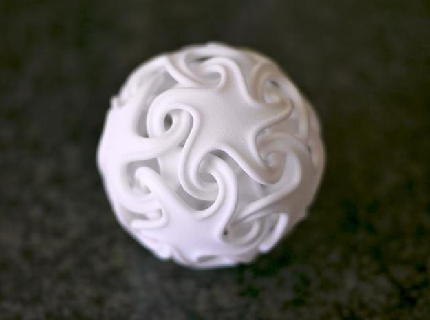 Ridged linking stars 3d printed Printed in WSF