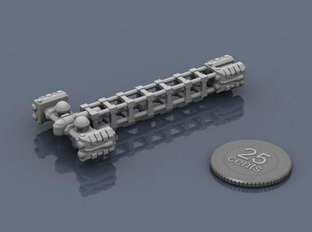 Cargo Tug: Unloaded 3d printed Render of the model, with a virtual quarter for scale.