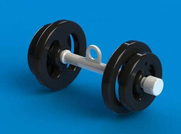 Dumbbell keychain (Chaveiro Haltere) 3d printed Description