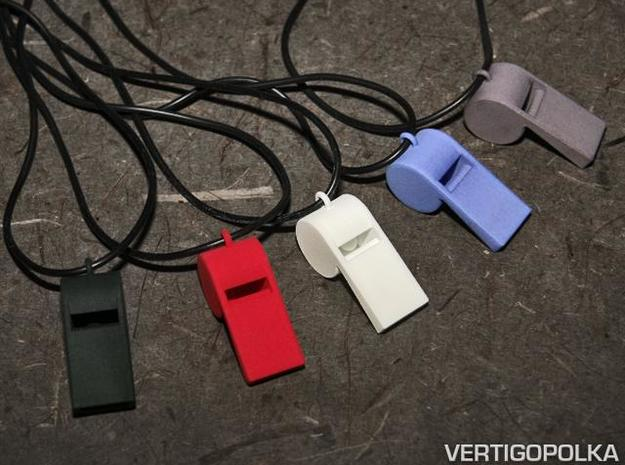 Whistle Pendant large 3d printed Whistle Pendants large - colors