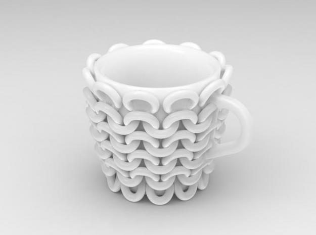 one cup a day | Day 24: Knitted Cup 3d printed knitted cup
