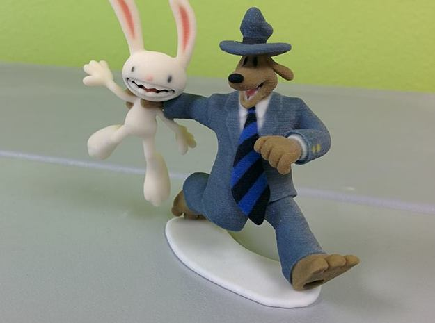 Sam & Max - 80mm (3.15inch) 3d printed
