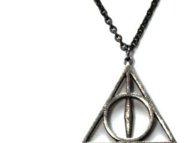 Deathly Hallows Necklace - Medium 3d printed 3
