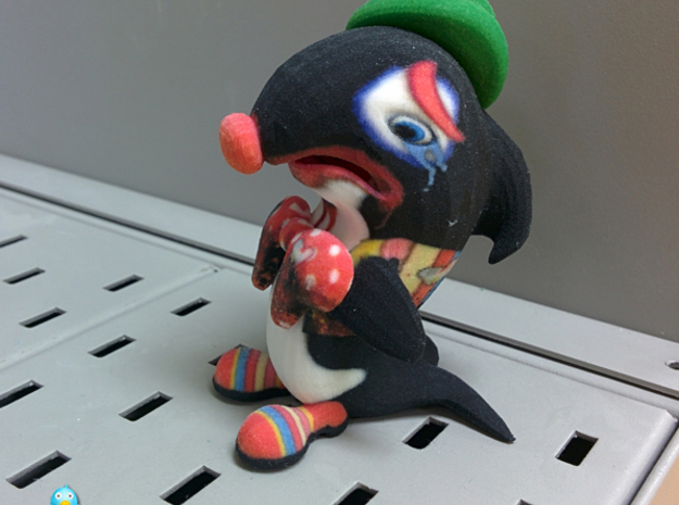 Sham-u the Sad Clown the More accurate Orca Toy 3d printed