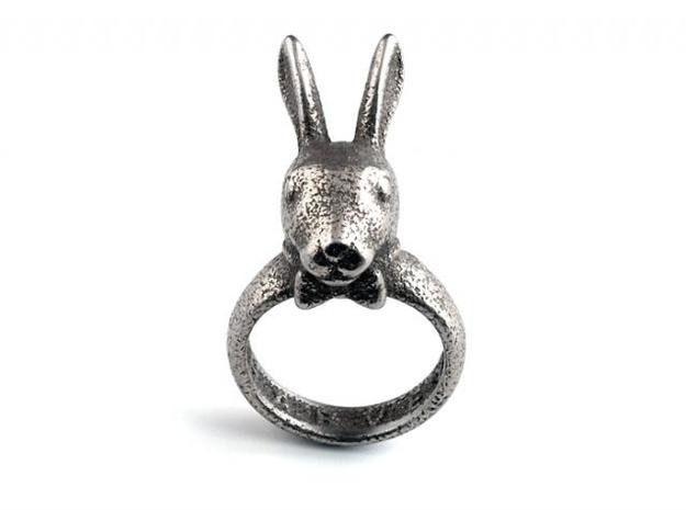 Harvey Ring 3d printed Stainless Steel