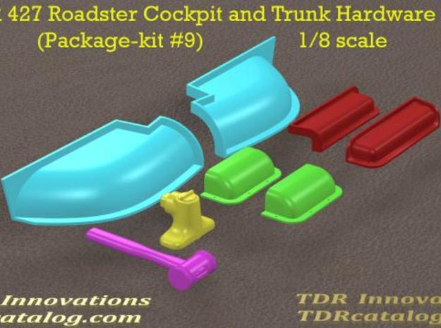 TDR 427 Roadster Cockpit and Trunk Hardware Kit 3d printed Description