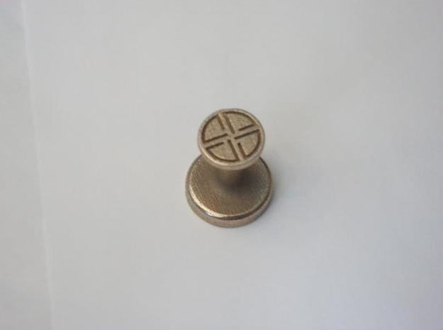Shield Knot Wax Seal 3d printed Top end of the seal