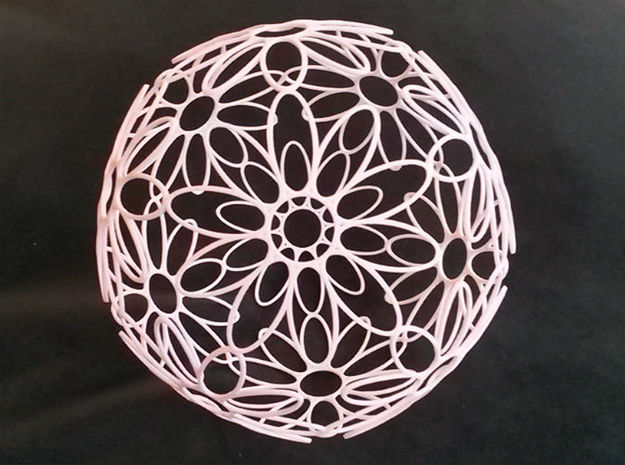 DodecaFlower (Large 145mm) 3d printed Large Dodecaflower (145mm)