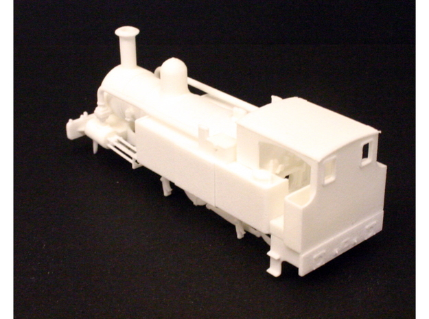 Metropolitan Railway A Class 3d printed Rear view of the assembled model