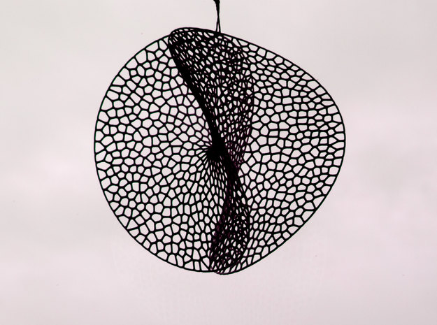 Enneper dream catcher (L / 17cm / 6.7 Inch) 3d printed Enneper Voronoi Dreamcatcher L