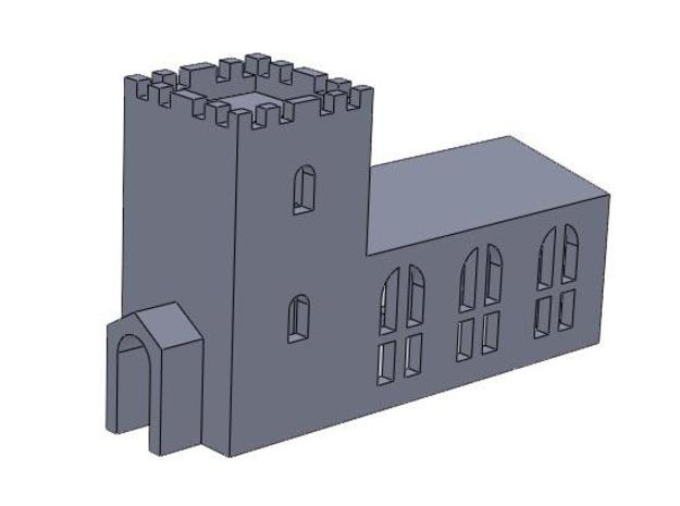 Country Church (T Gauge) 3d printed Description