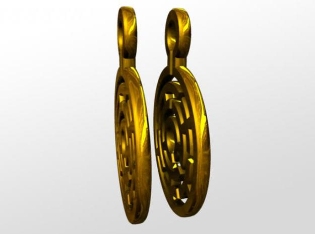 Maze Earrings 3d printed side