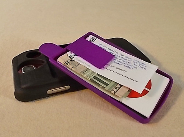 Ultra Slim Wallet 3d printed Ultra Slim Wallet shown in Purple on the GS4