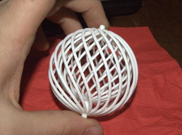 spiral ball in a ball toy 3d printed