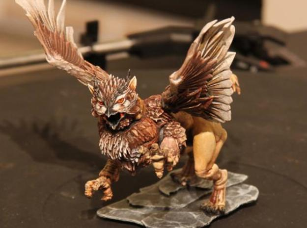 Owl Griffon 3d printed From the front