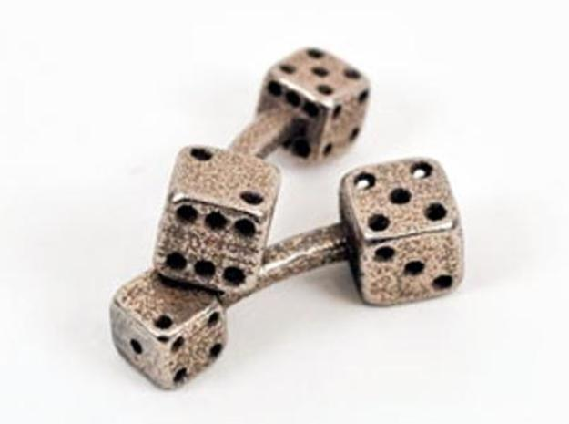 Dice Cufflinks 3d printed
