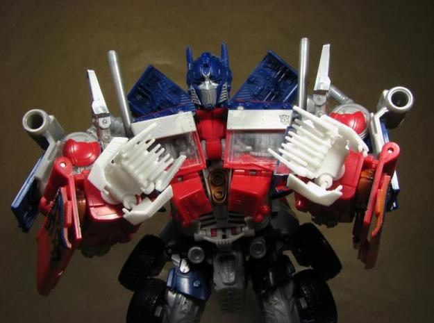 ROTF Leader Optimus Prime knuckle hands 3d printed Knuckles out.