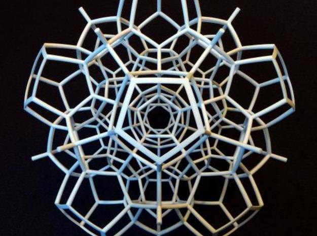 Half of a 120-cell (Large) 3d printed 5 fold symmetry axis.