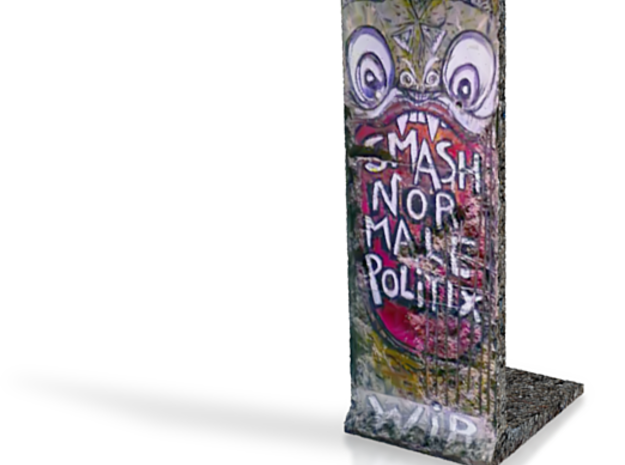 The Berlin Wall 01 3d printed
