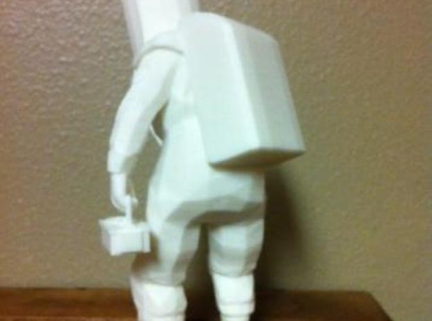 HAZMAT Rad-Guy (7.2in) 3d printed Back