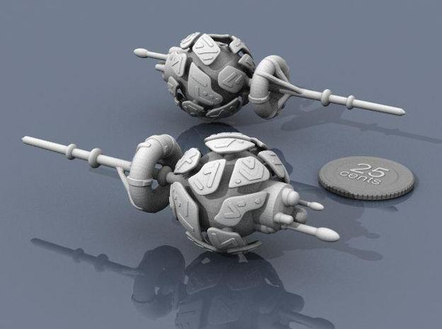 Alien Artifact 2 3d printed Renders of the model, with a virtual quarter for scale