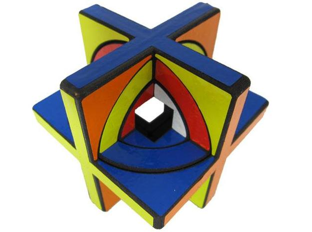 Concentric Cube 3d printed Outer two layers bandaged
