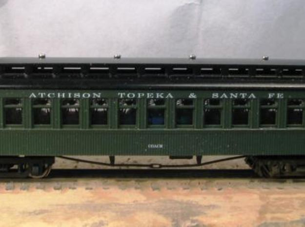 T52p N passenger car truck 7ft CBQ No2, pin x16 3d printed