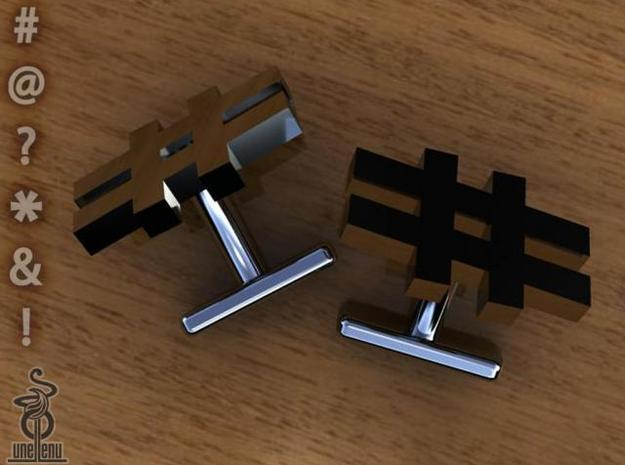 #cufflinks by unellenu . Hashtag cufflinks 3d printed