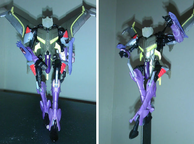 Slipstream homage Talon For TFP BH Starcrm R 3d printed Talon Head on Deluxe TF Prime Starscream
