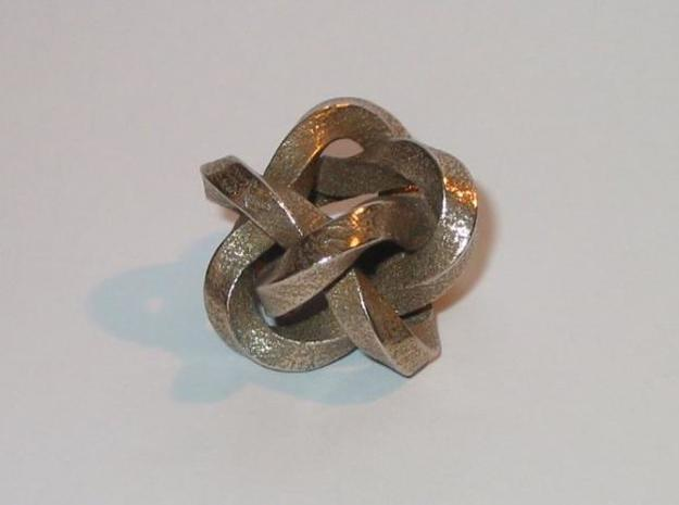 Knot 3 3d printed Stainless steel