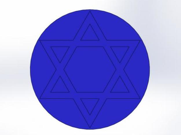 Star of David Wax Seal 3d printed Impression