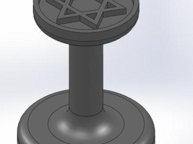 Star of David Wax Seal 3d printed