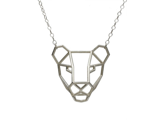 Lioness Pendant 3d printed