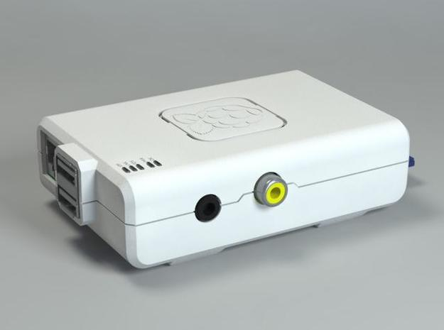 Raspberry Pi CASE 1.0 3d printed Rendered in Blender + Yafaray