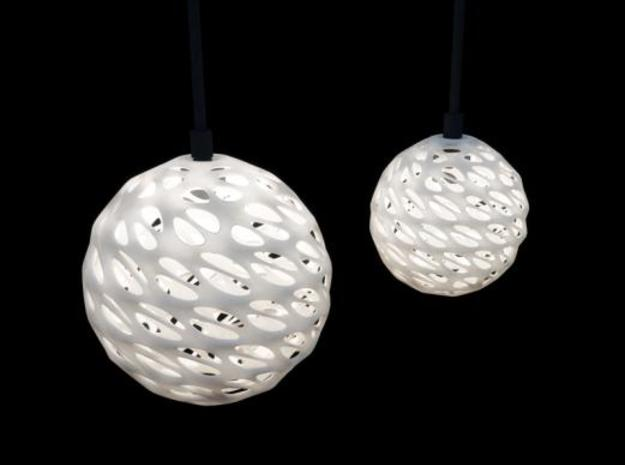 Moby Hanging Light Shade Big 3d printed