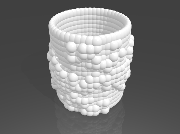 Pebble Cup - Julia Set 0 (Small Size) 3d printed